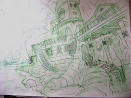 Large house in the swamp by CARUTOONS