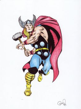 The Mighty Thor color by TheShadowQueen