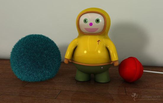 Plastic Boi with Ball by C-Williams