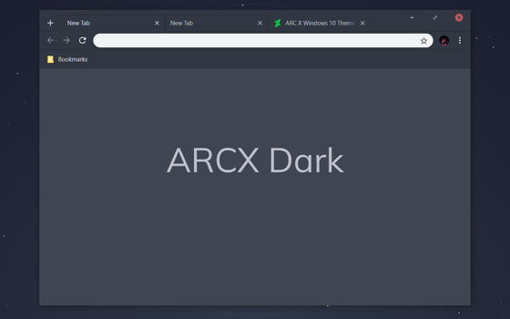 ARCX Dark Chrome Theme by bkp86