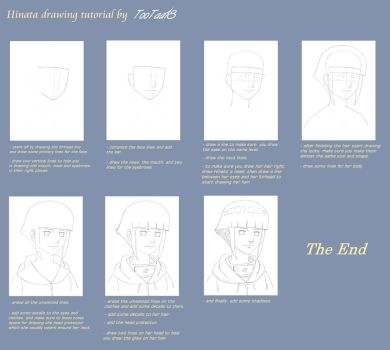 Hinata Drawing Tutorial by tootaa18