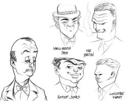 Dick Tracy Villains by julioferreira