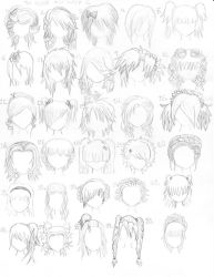 The Anime Hair Index 2 by xxangelsilencex