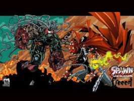 Spawn VS The Creech Art by mikems71