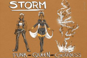 Storm: Punk, Queen, Goddess by FrankyPlata