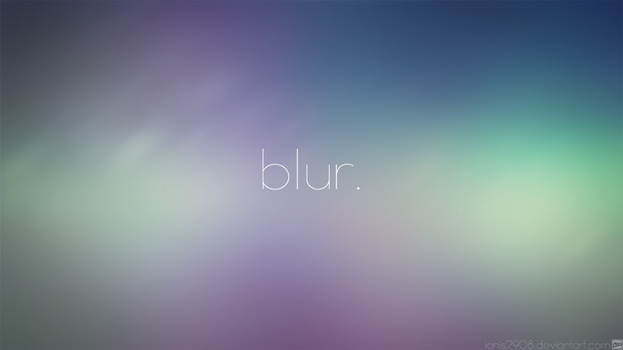 blur. - wallpaper for iPhone, iPad and desktop. by Ianis2908