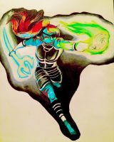 Undyne: Green heart for you by ElizavetaH213