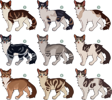 [CLOSED] Cat Adoptables by nargled