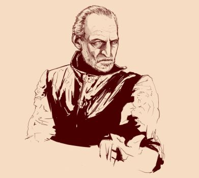 Tywin Lannister Sketch by olafex