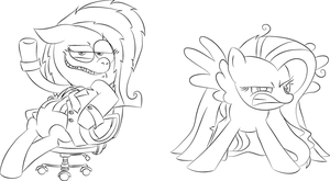 Fluttershy comparison: MOV and Original by RaymanRus
