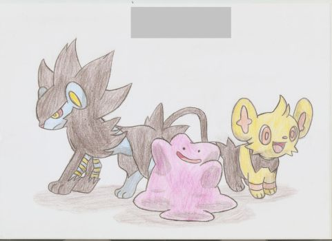 A little comission of Pokemon by Adripika