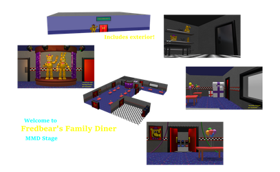 MMD- Fredbear's Family Diner (DL!) by OscartheChinchilla
