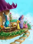 The seller of sweets by PunainenTaiteilija