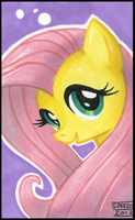 Fluttershy Portrait by cocktailolive