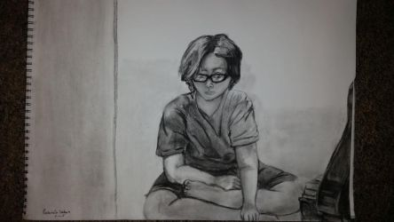 Just Me Drawing Me by Zyndanei
