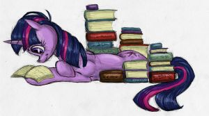 Hitting the Books by TheSolitarySandpiper