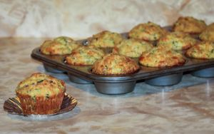 Bacon and Cheddar Zucchini Breakfast Muffins by Kitteh-Pawz