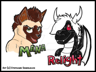 Mana and Relight Badges by toonartt