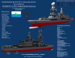 Sparrow Class Guided Missile Destroyer by Stealthflanker