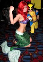 Ariel and Wolverine by AlisaKiss