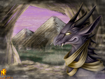 Head-Portrait Art: Dragon + Environment by Nornefirecat