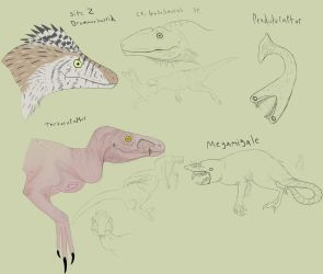 Creatures to fufill raptor role by Troodontidae