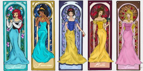 Disney Princesses - Mucha Esque by MiSsViXeNlOvEIrOnIsT