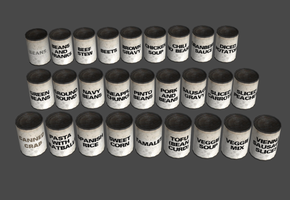 XPS 'white label' canned food pack (Portal mod) by DigitalExplorations