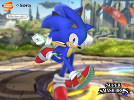 Sonic the Hedgehog (SSB4) by Sticklove