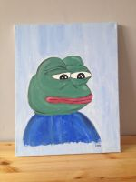 beautiful pepe canvas by ShuckShiba