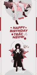 [180925] HAPPY BIRTHDAY TRAC MEOW by AnhGull