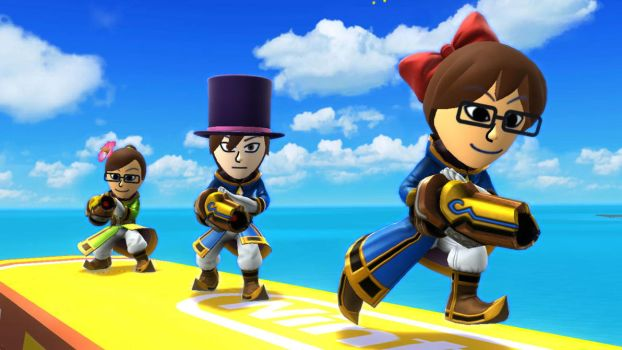 August, Anton, and Raven Mii Gunners by TomodachiSmash