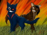 shadowclaw and yuki bro slaughter by ShadowClawZ