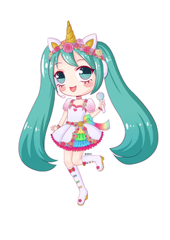 Unicorn Miku by 39rin