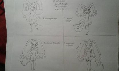 CLOSED PokeFusion Doodle Adopts: Lopunny Edition by Glitchy-Wolf