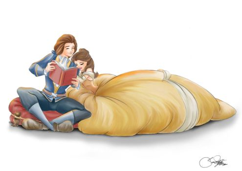 Belle and Adam by SilverCatseyes