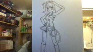 Lucy Heartfillia Sketch (Outlined, but Not Erased) by iamanimegirl12