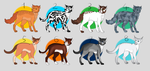 ~ Cat adoptables ( 1 ) : Open by Lysithea-Adopts