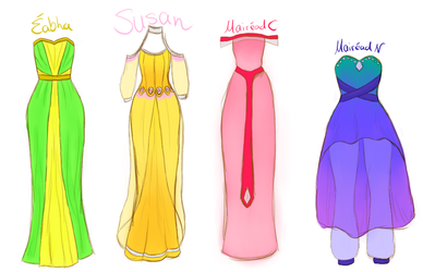 New Act I CW dress designs by xXLionqueenXx