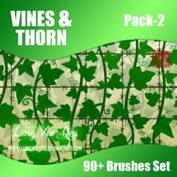 90+ Vines and Thorn Brushes Set - Pack 2 [HQ] by lungxueqiu