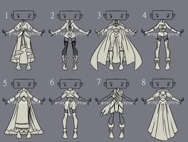 Outfit Adoptable Set 14 - CLOSED by imaginary-shops