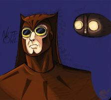 Nite Owl Sketch by ellensama
