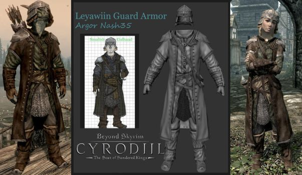Beyond Skyrim Leyawiin Guard Armor Set by Argornash35