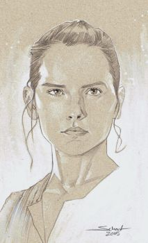 Rey drawing by JonasScharf