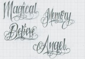 Tattoo Lettering 37 by 12KathyLees12