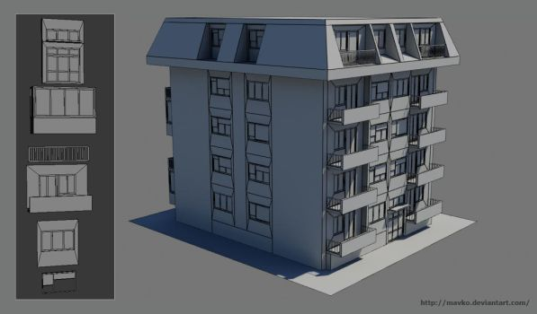 LowPoly building 2 by Mavko