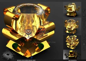 Fruit Bowl :Gold color: inspired by flower