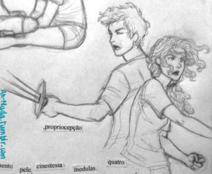 ''Annabeth and Percy stood back-to-back... by ah-nada
