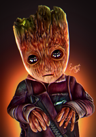Baby Groot by junkome