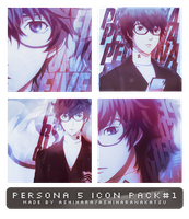 PERSONA 5 (MC) ICON PACK #1 by Ashihara by AshiharaNakatsu